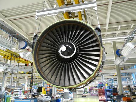 jet engine during maintenance