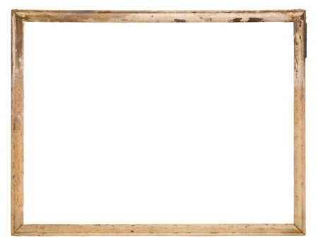 Photo pour Old wood frame isolated on the white  - image libre de droit