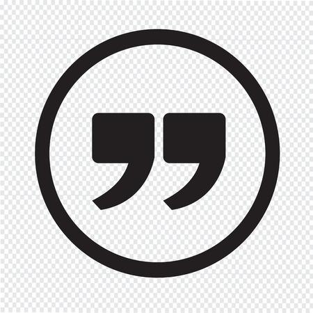 Illustration pour Quote sign icon , Quotation mark - image libre de droit