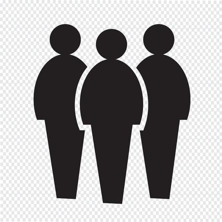 Illustrazione per people icon - Immagini Royalty Free