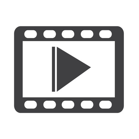 Illustration for video icon - Royalty Free Image