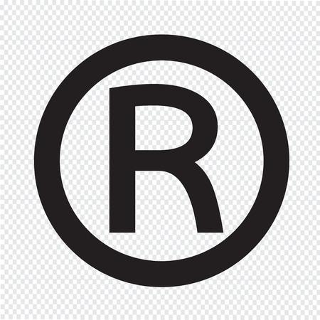 Illustration pour Registered Trademark icon - image libre de droit