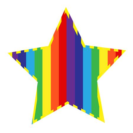 Illustration pour Rainbow with cloud icon - image libre de droit