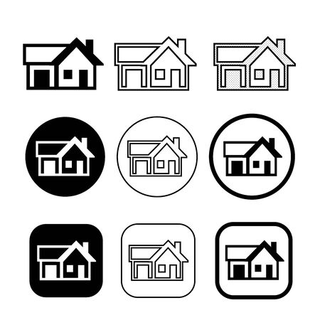 Illustration for simple house symbol and home icon sign - Royalty Free Image