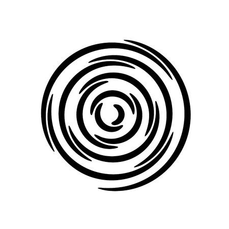 Ilustración de Set of vector spirals. Design element. - Imagen libre de derechos