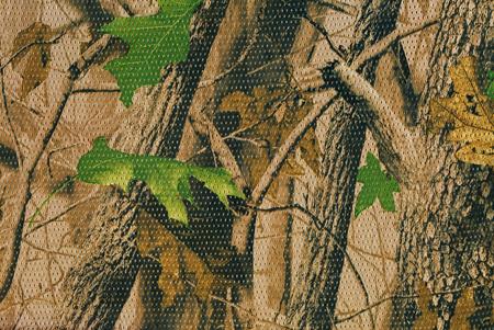 Foto de Closeup camouflage pattern for hiding, disguising. Detailed texture of dried leaf - Imagen libre de derechos