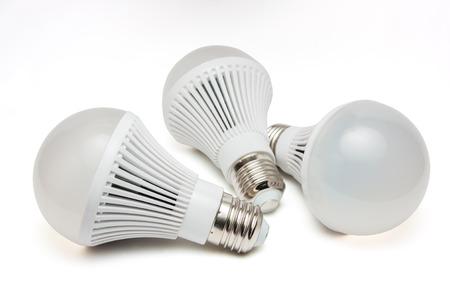 Photo pour LED light bulbs on a white background. - image libre de droit