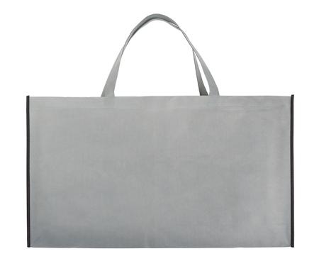 Foto de Gray non-woven bag isolated on white - Imagen libre de derechos