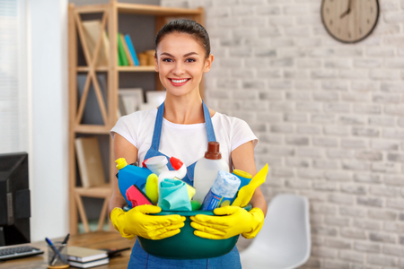 Photo for Concept for home cleaning services - Royalty Free Image