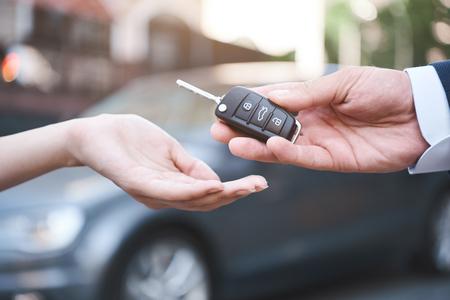 Photo pour auto business, car sale, transportation, people and ownership co - image libre de droit