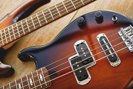 Photo for Parts of Electric guitar. Close up view of electric guitar body with volume and tone controls. Music concept. Music equipment. Musical instruments. - Royalty Free Image