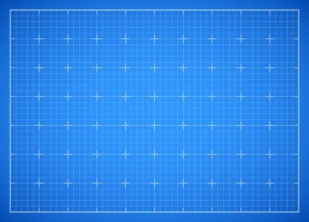 Illustration pour Blue square grid blueprint - image libre de droit