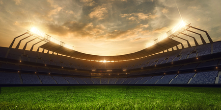 Photo for 3d render emptry stadium evening without people - Royalty Free Image