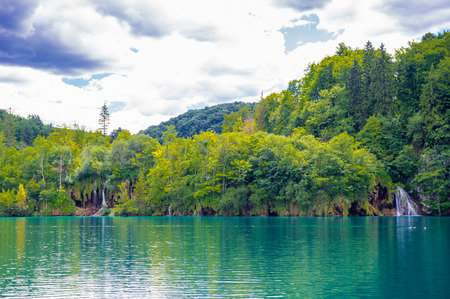 Foto de Plitvice Lakes National Park, the largest national park in Croatia, - Imagen libre de derechos