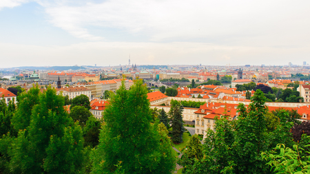 Foto de Saturated landscape of Prague (Praha), capital of the Czech Republic. - Imagen libre de derechos