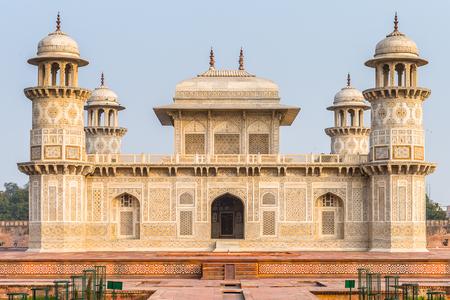 Foto per Itmad-Ud-Daulah Mausoleum (Jewel Box or the Baby Taj) in Agra, Uttar Pradesh, India. It was referred as a draft for Taj Mahal - Immagine Royalty Free