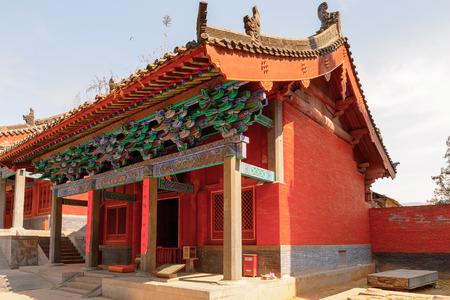Photo pour Pagoda at the Authentic Shaolin Monastery (Shaolin Temple), a Zen Buddhist temple. - image libre de droit