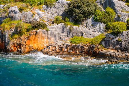 Photo for Remains of the ancient Lycian city on the Kekova island,  Turkey - Royalty Free Image