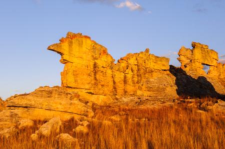 Foto de Wierd rock on the sunset in Madagascar - Imagen libre de derechos