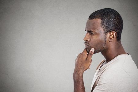 Photo pour Portrait thoughtful young man - image libre de droit