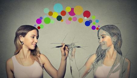 Photo pour Create yourself, your future destiny, image concept. - image libre de droit