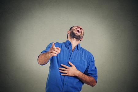Photo pour Laughing young man - image libre de droit