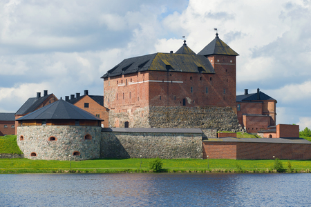 Photo for Medieval fortress of Hameenlinna close up on a cloudy July day. Finland - Royalty Free Image