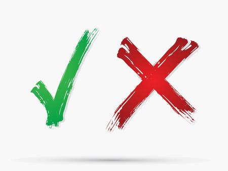 Illustration pour Check Mark X Yes No icon graphic symbol Vector. - image libre de droit