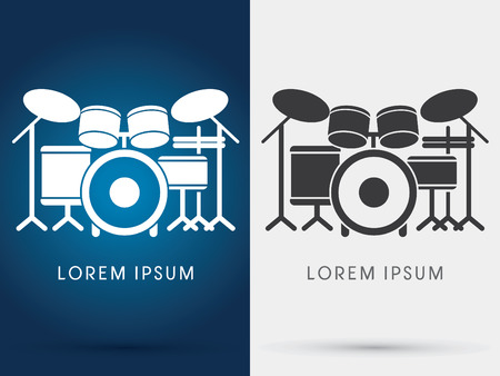 Illustration pour Drum Set Music symbol icon graphic vector. - image libre de droit