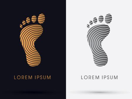 Ilustración de Foot Footprint symbol icon graphic vector. - Imagen libre de derechos