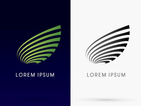 Illustration pour Abstract Leaf designed using green lines - image libre de droit