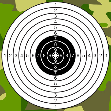 Target for shooting on a camouflage background.