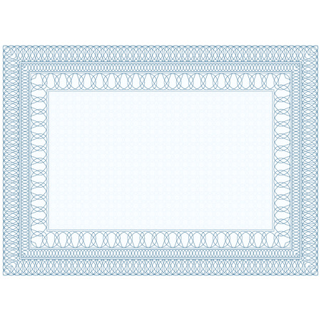 Ilustración de The empty form for the certificate, Guilloche border  - Imagen libre de derechos
