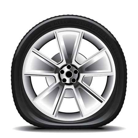 Ilustración de Drawing of the tire on a white background - Imagen libre de derechos