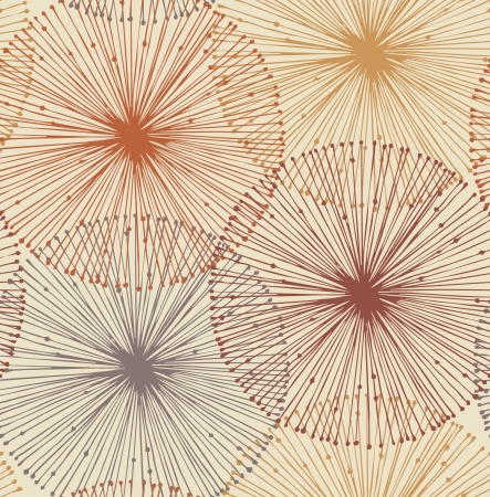 Photo pour Sandy and orange radial elements  Seamless background for patterns, cards, textile, wallpapers, web pages  - image libre de droit