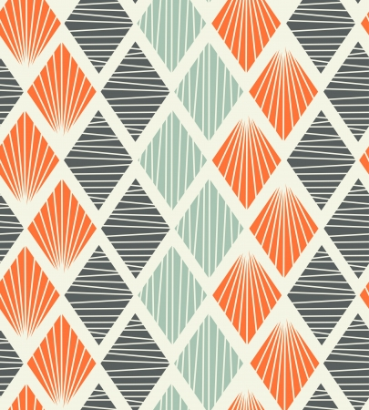 Ilustración de Seamless geometric pattern with rhombs  Decorative abstract background - Imagen libre de derechos