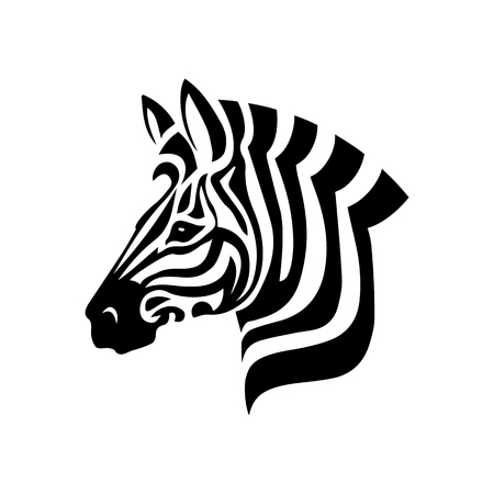 Illustration pour Vector Zebra Head logo on white background - image libre de droit