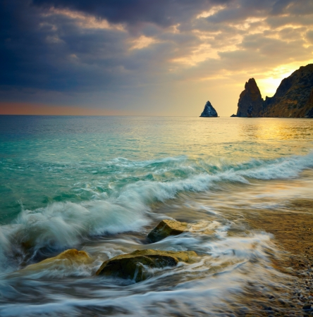 Photo pour Sea sunset - image libre de droit
