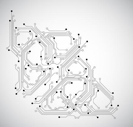 Illustration pour abstract circuit board background - image libre de droit