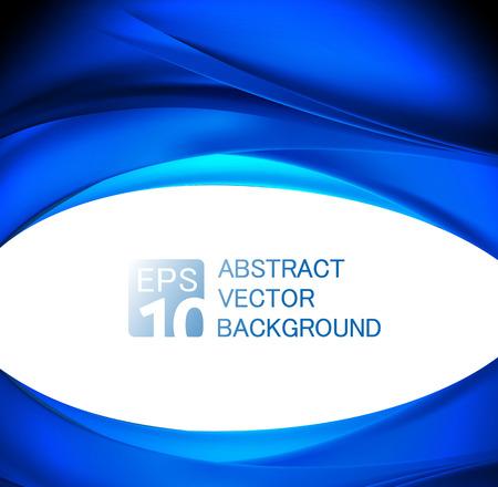 Ilustración de abstract blue wave background - Imagen libre de derechos