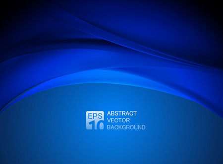 Ilustración de abstract blue wave background - Imagen libre de derechos
