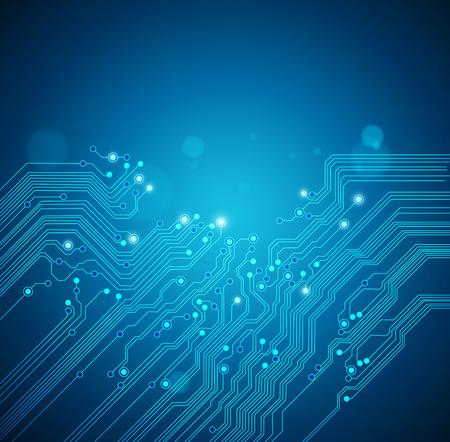 Ilustración de circuit board blue background - Imagen libre de derechos