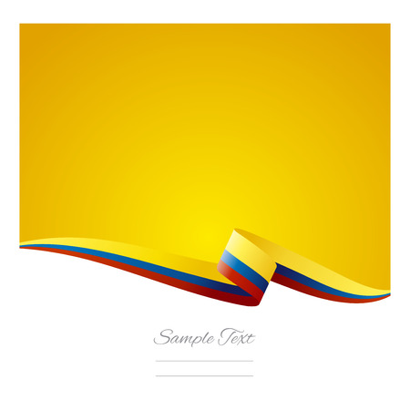 Ilustración de Abstract color background Colombian flag vector - Imagen libre de derechos