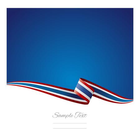 Illustration pour Abstract color background Thai flag vector - image libre de droit