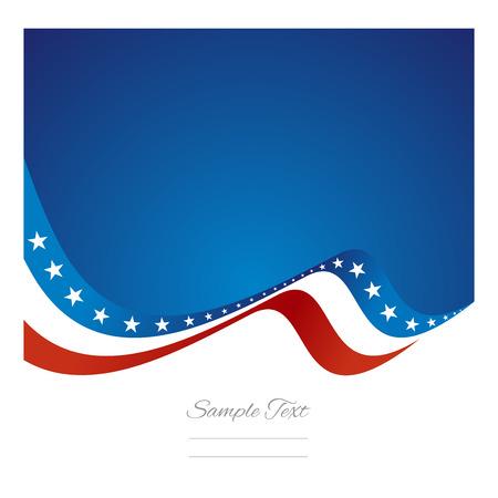 Illustration pour Abstract US flag ribbon vector - image libre de droit