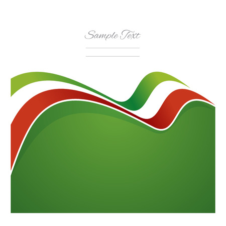 Illustration for Mexico abstract flag ribbon vector - Royalty Free Image
