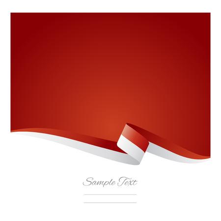 Illustration pour Abstract color background Indonesian flag vector - image libre de droit
