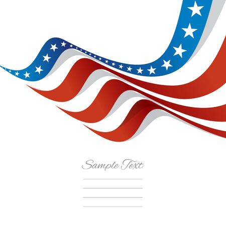 Abstract US flag top right cover vector