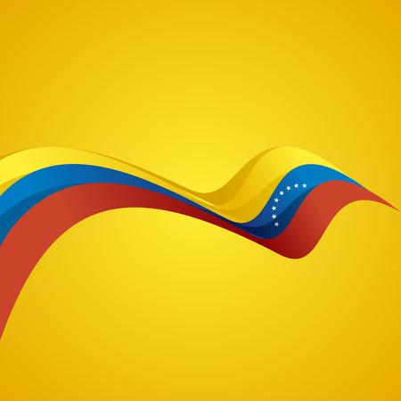 Abstract cover Venezuelan ribbon vector