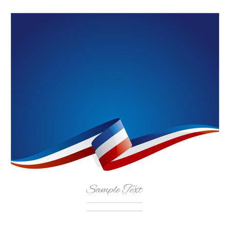 Illustration pour New abstract France flag ribbon - image libre de droit